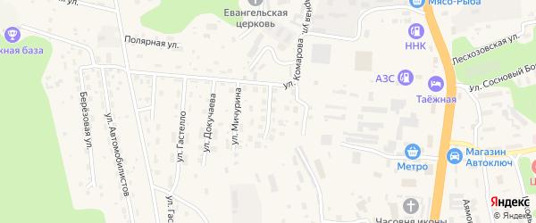 Улица Нестерова на карте Тынды с номерами домов