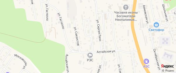 Улица Надежды на карте Тынды с номерами домов