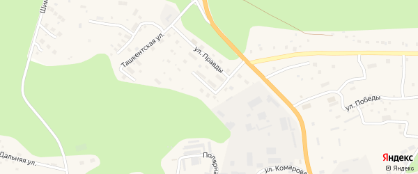 Космическая улица на карте Тынды с номерами домов