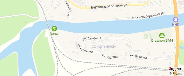 Улица Гагарина на карте Тынды с номерами домов