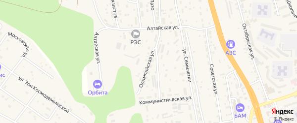 Олимпийская улица на карте Тынды с номерами домов