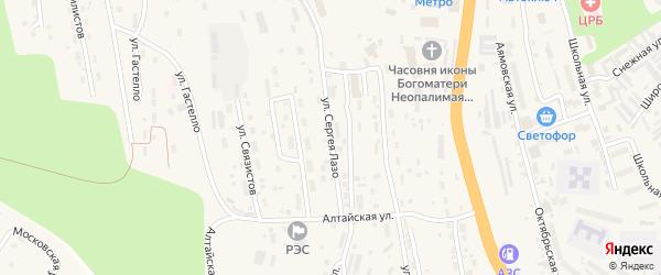 Улица Лазо С. на карте Тынды с номерами домов