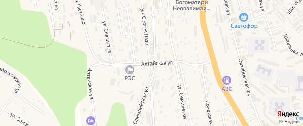 Алтайская улица на карте Тынды с номерами домов