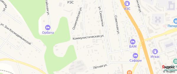 Коммунистическая улица на карте Тынды с номерами домов