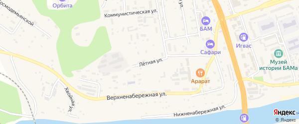 Летная улица на карте Тынды с номерами домов