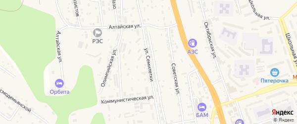 Улица Семилетки на карте Тынды с номерами домов