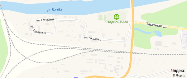 Улица Чкалова на карте Тынды с номерами домов