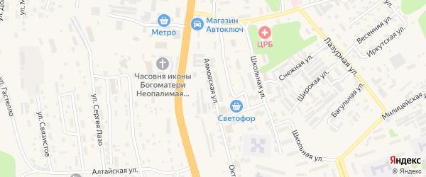Аямовская улица на карте Тынды с номерами домов