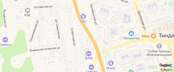 Красноармейская улица на карте Тынды с номерами домов