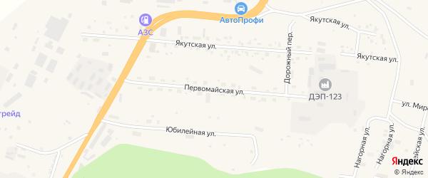 Первомайская улица на карте Тынды с номерами домов