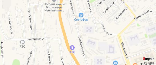 Октябрьская улица на карте Тынды с номерами домов