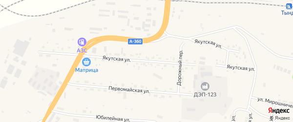 Якутская улица на карте Тынды с номерами домов