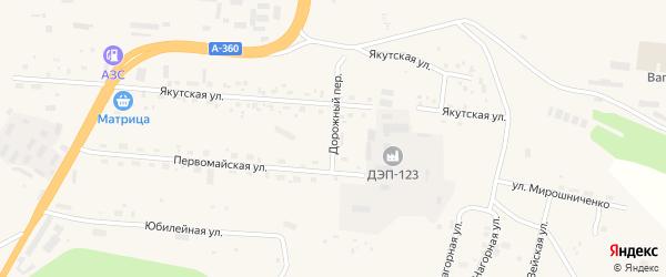Дорожный переулок на карте Тынды с номерами домов