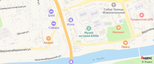 Спортивная улица на карте Тынды с номерами домов