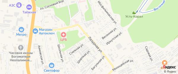 Лазурная улица на карте Тынды с номерами домов