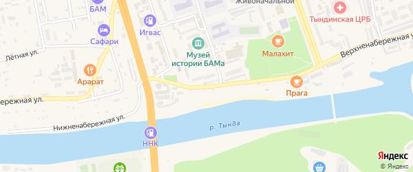 Верхне-Набережная улица на карте Тынды с номерами домов