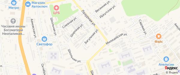 Багульная улица на карте Тынды с номерами домов