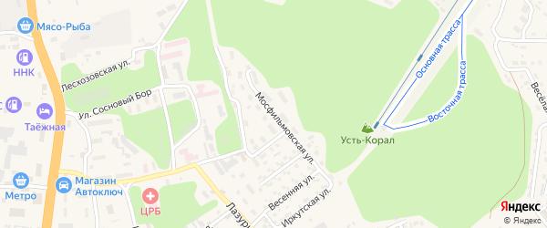 Мосфильмовская улица на карте Тынды с номерами домов