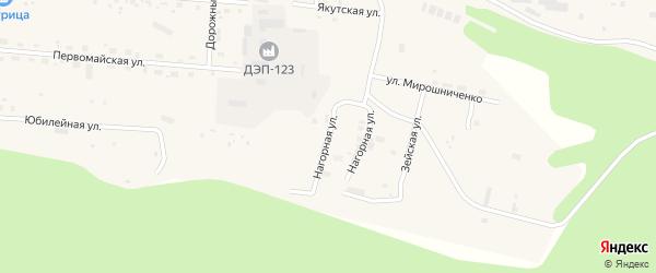 Высоконагорная улица на карте Тынды с номерами домов