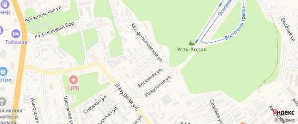Украинская улица на карте Тынды с номерами домов