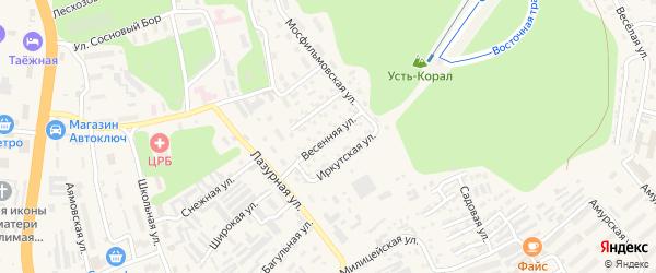 Весенняя улица на карте Тынды с номерами домов