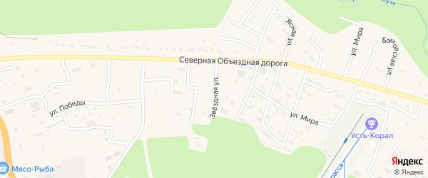 Звездная улица на карте Тынды с номерами домов