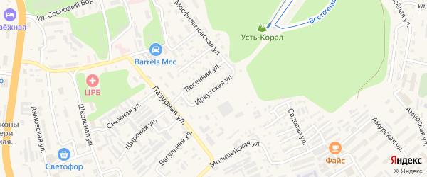 Иркутская улица на карте Тынды с номерами домов