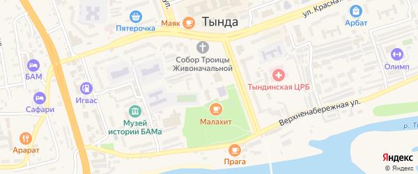 Профсоюзная улица на карте Тынды с номерами домов
