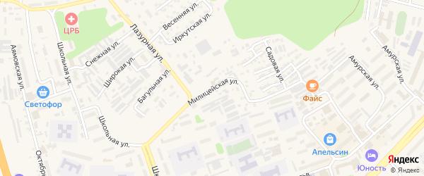 Милицейская улица на карте Тынды с номерами домов