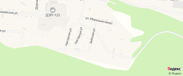 Зейская улица на карте Тынды с номерами домов