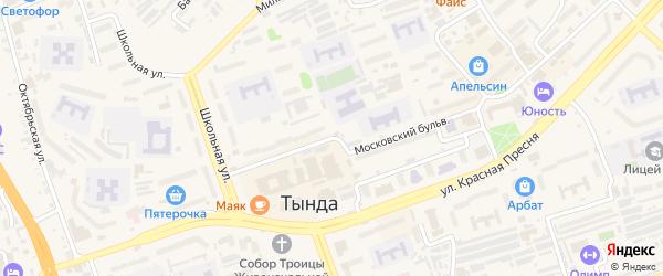 Улица Красная Пресня на карте Тынды с номерами домов