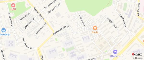 Миитовская улица на карте Тынды с номерами домов