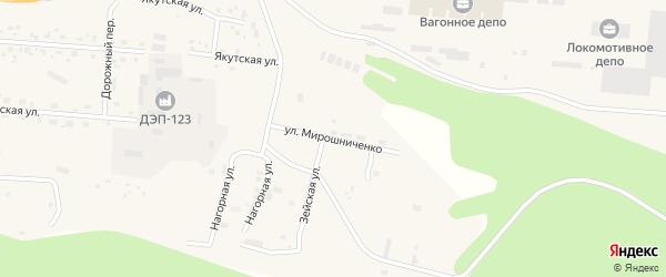 Улица Мирошниченко на карте Тынды с номерами домов