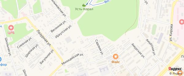Улица Юности на карте Тынды с номерами домов