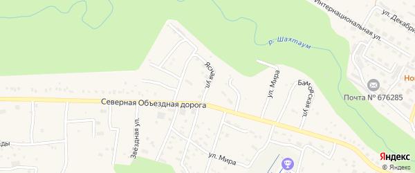 Ясная улица на карте Тынды с номерами домов