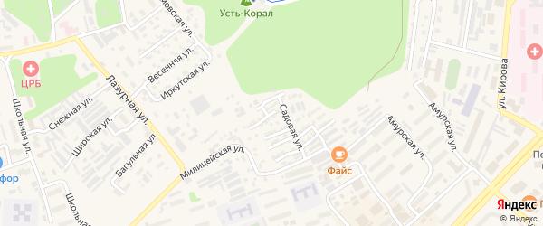 Южная улица на карте Тынды с номерами домов