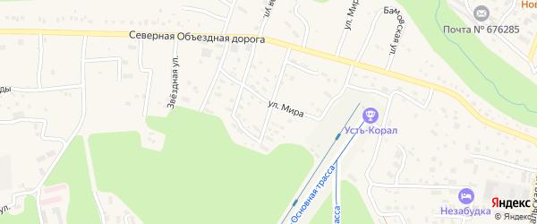 Улица Энергостроителей на карте Тынды с номерами домов