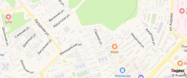 Прибалтийская улица на карте Тынды с номерами домов