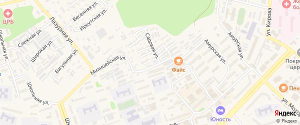 Одесская улица на карте Тынды с номерами домов