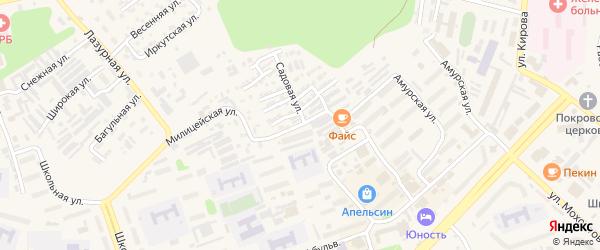Воронежская улица на карте Тынды с номерами домов