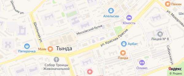 Московский бульвар на карте Тынды с номерами домов