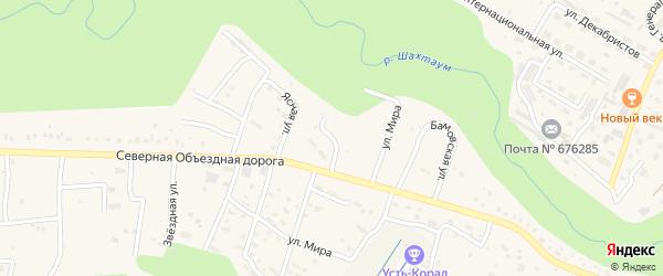 Улица Мира на карте Тынды с номерами домов