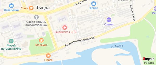 Таежная улица на карте Тынды с номерами домов