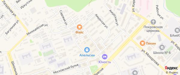 Улица Московских строителей на карте Тынды с номерами домов