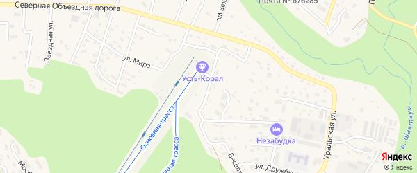 Улица Комсомолец Якутии на карте Тынды с номерами домов