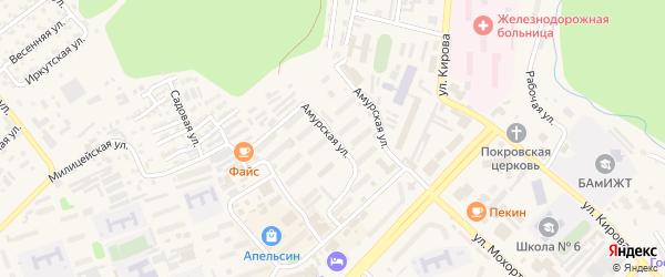 Амурская улица на карте Тынды с номерами домов