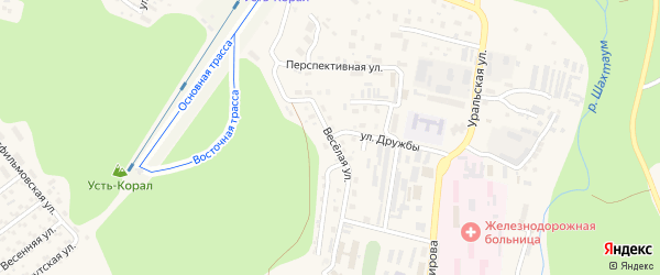 Веселая улица на карте Тынды с номерами домов