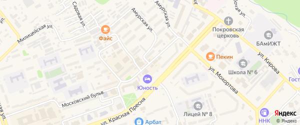 Фестивальная улица на карте Тынды с номерами домов