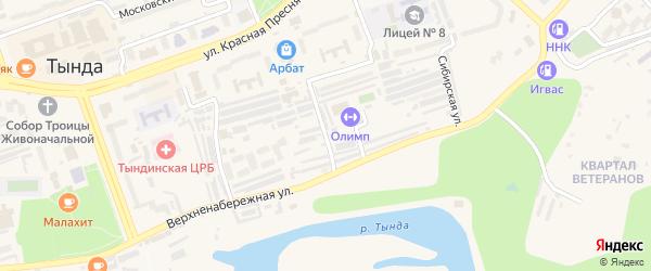 Речная улица на карте Тынды с номерами домов
