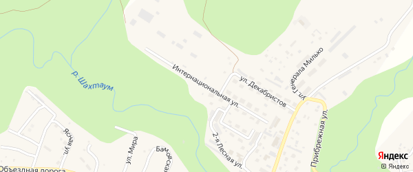 Интернациональная улица на карте Тынды с номерами домов